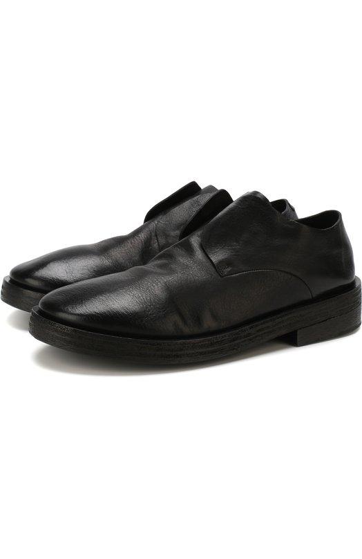 Купить Кожаные дерби без шнуровки Marsell, MM2755/VACCH.V0L0NATA, Италия, Черный, Подошва-резина: 70%; Подошва-кожа: 30%; Подкладка-кожа: 100%; Кожа: 100%;