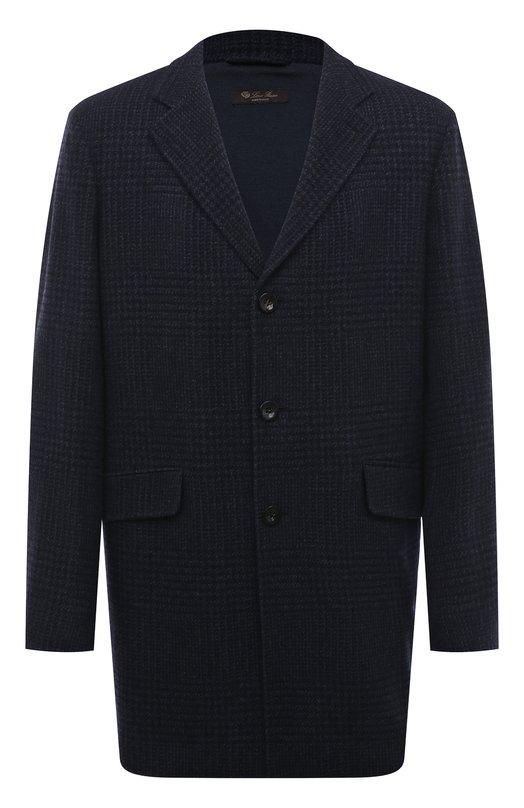 Купить Однобортное кашемировое пальто Loro Piana, FAI3194, Италия, Темно-синий, Кашемир: 100%;