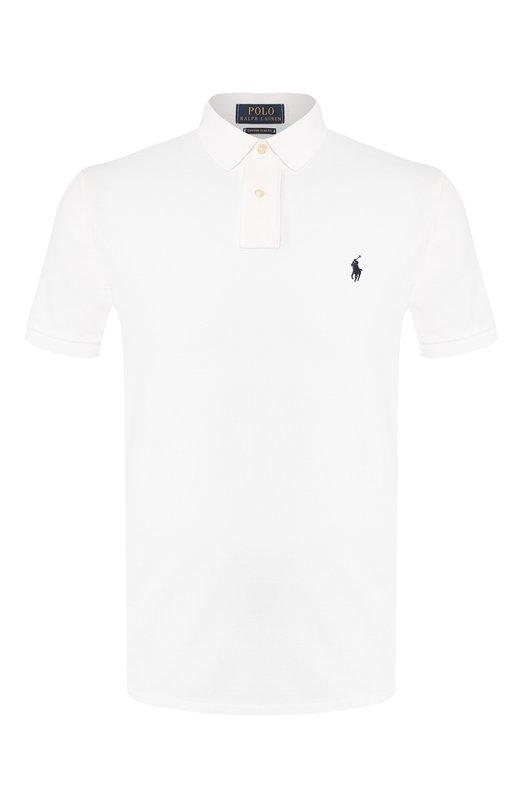 Купить Хлопковое поло с короткими рукавами Polo Ralph Lauren, 710666998, Вьетнам, Белый, Хлопок: 100%;