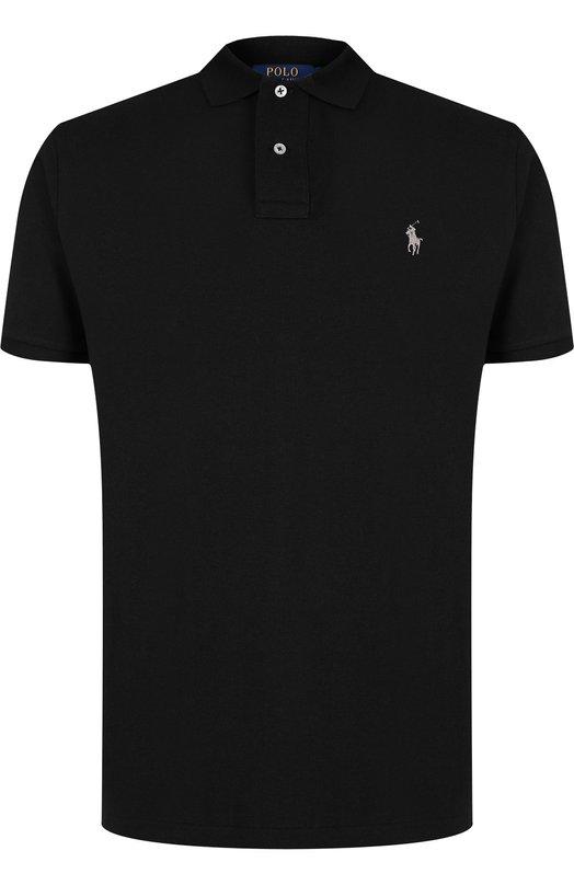 Купить Хлопковое поло с короткими рукавами Polo Ralph Lauren, 710666998, Вьетнам, Черный, Хлопок: 100%;