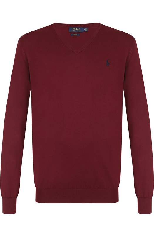 Купить Хлопковый пуловер тонкой вязки Polo Ralph Lauren, 710702588, Китай, Бордовый, Хлопок: 100%;