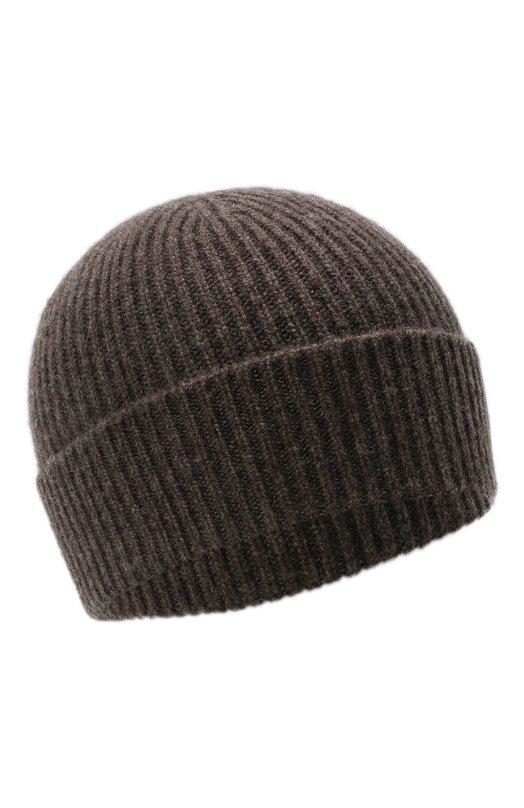 Купить Кашемировая шапка с отворотом Giorgio Armani, 747348/8A510, Италия, Коричневый, Кашемир: 100%;