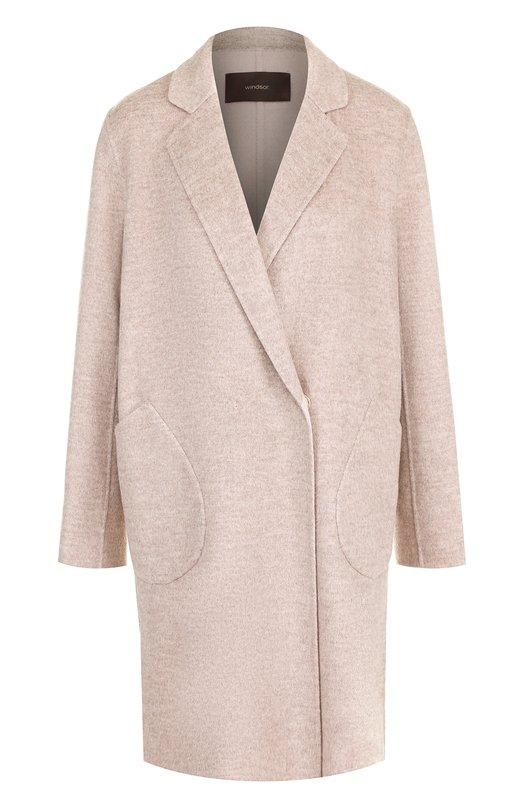 Купить Однотонное пальто из смеси шерсти и кашемира Windsor, 52 DM815H 10005462, Китай, Бежевый, Шерсть: 90%; Кашемир: 10%;