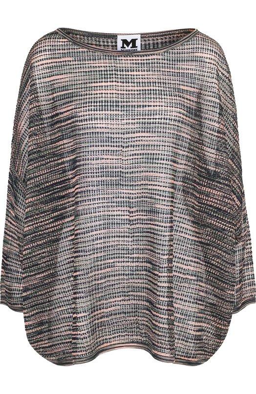 Купить Вязаный пуловер из смеси вискозы и шерсти M Missoni, QD3KC01J2TB, Китай, Синий, Вискоза: 73%; Шерсть: 27%;
