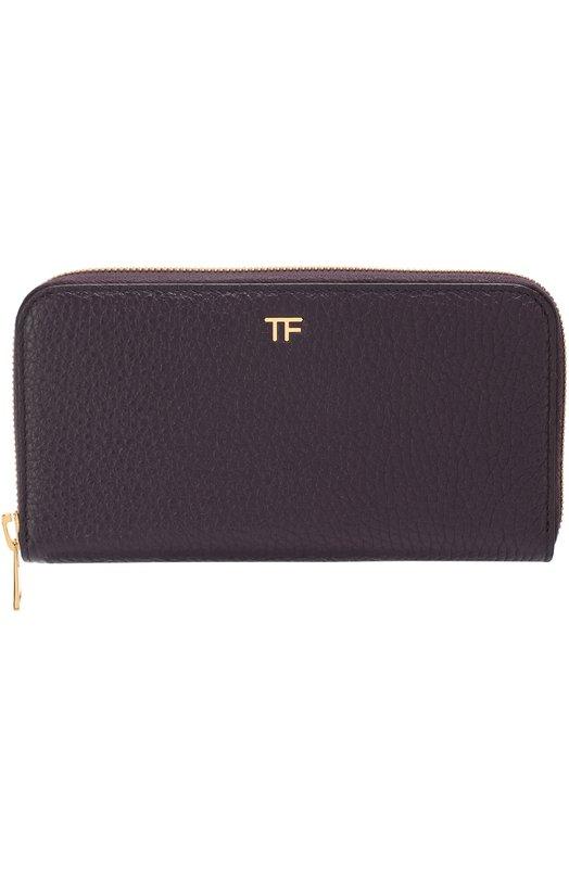 Купить Кожаное портмоне на молнии Tom Ford, SM190T-CE6, Италия, Бордовый, Кожа натуральная: 100%;