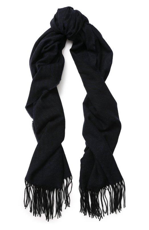 Купить Кашемировый шарф с бахромой Giorgio Armani, 745214/8A121, Италия, Синий, Кашемир: 100%;
