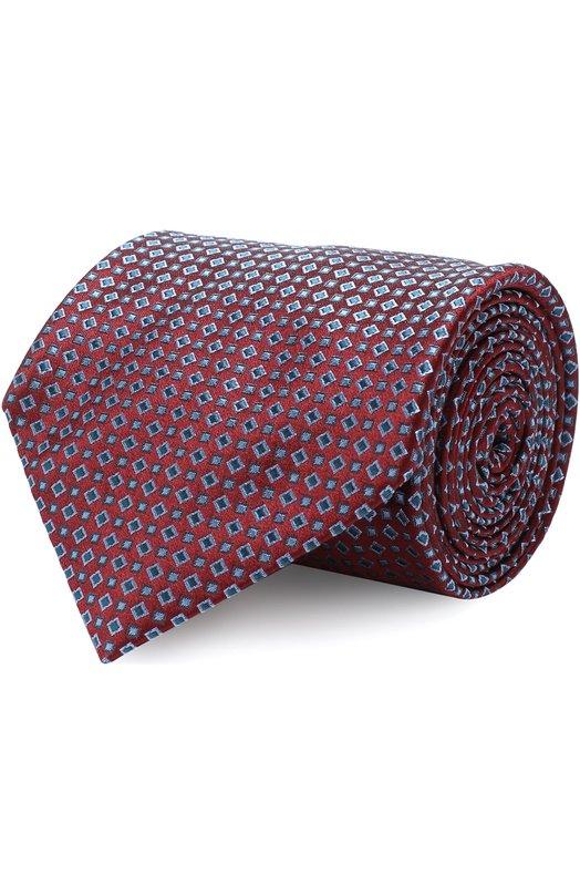 Купить Шелковый галстук с узором Brioni, 062I00/07434, Италия, Бордовый, Шелк: 100%;