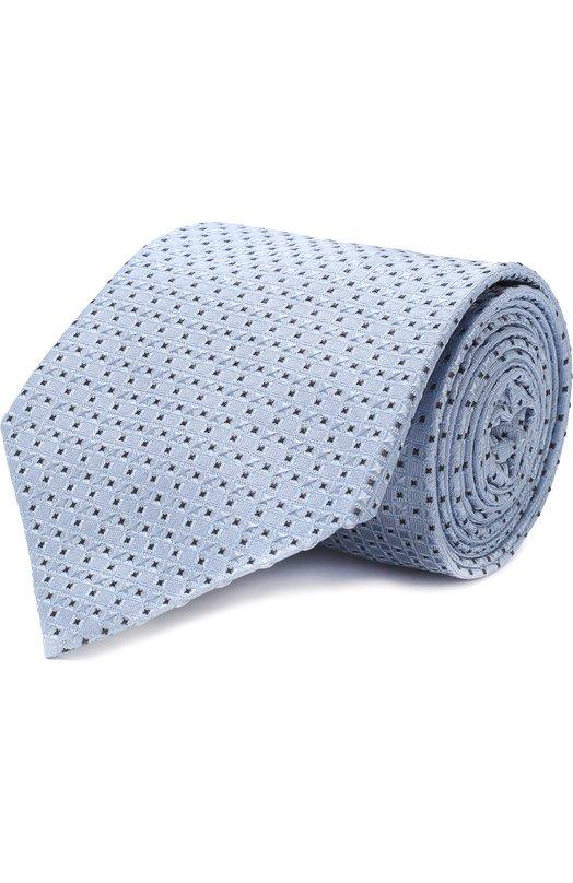 Купить Шелковый галстук с узором Giorgio Armani, 360054/8A917, Италия, Голубой, Шелк: 100%;
