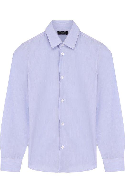 Купить N402/7815/4-6, Хлопковая рубашка с воротником кент Dal Lago, Италия, Синий, Хлопок: 100%;, Мужской, Рубашки