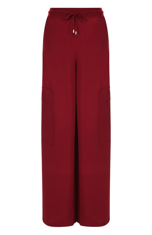Купить Однотонные шелковые брюки с накладными карманами Loro Piana, FAI1768, Италия, Бордовый, Шелк: 100%;