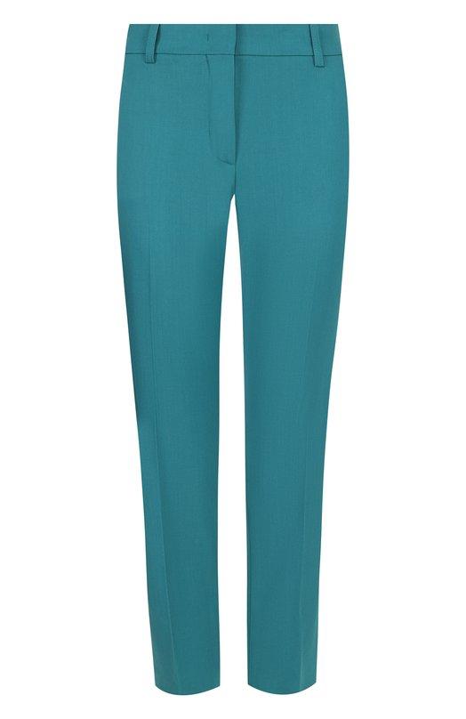 Купить Укороченные шерстяные брюки со стрелками Emilio Pucci, 8RRT51/8R605, Румыния, Зеленый, Шерсть: 98%; Эластан: 2%;
