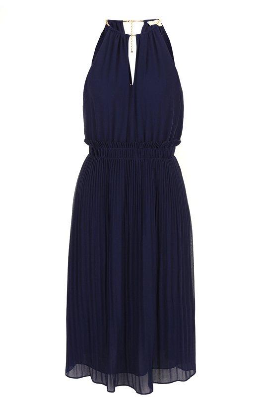 Купить Приталенное плиссированное платье без рукавов MICHAEL Michael Kors, MU78X037R3, Китай, Синий, Полиэстер: 100%; Подкладка-полиэстер: 100%;