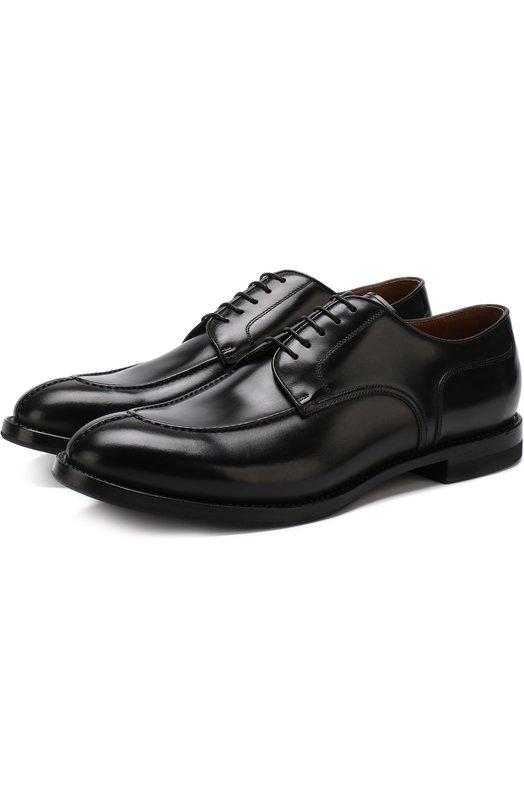 Купить Классические кожаные дерби W.Gibbs, 0337007/BATISFERA, Италия, Черный, Подошва-Кожа: 80%; Подошва-Резина: 20%; Подкладка-Кожа: 100%; Кожа: 100%; Кожа натуральная: 100%; Стелька-Кожа: 100%;
