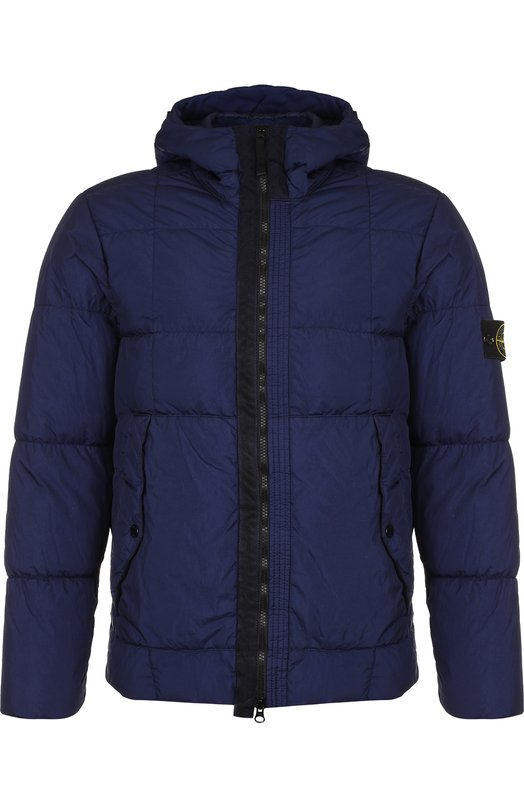 Купить Куртка на молнии с капюшоном Stone Island, 691541223, Индонезия, Темно-синий, Полиамид: 100%;