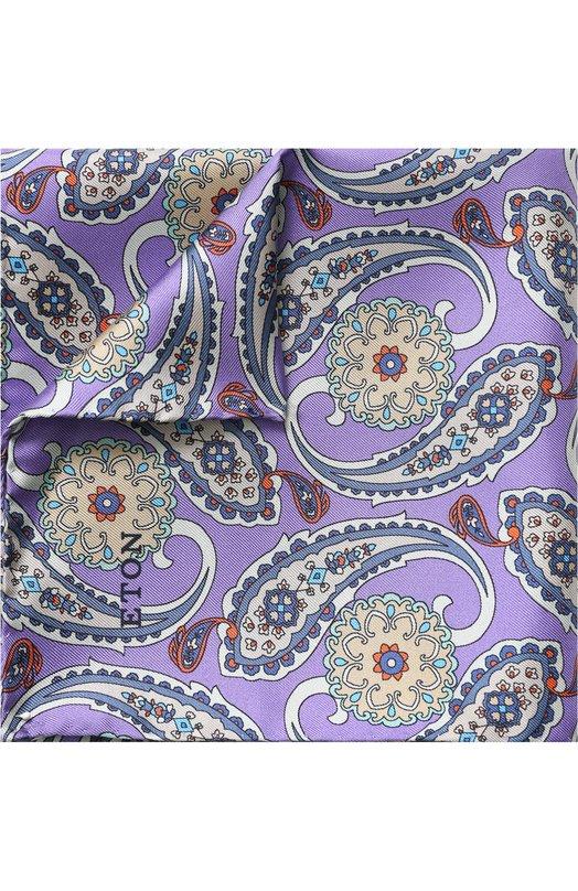 Купить Шелковый платок с узором Eton, A000 30684, Италия, Сиреневый, Шелк: 100%;