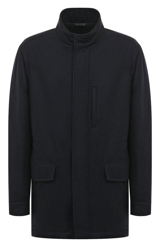 Купить Кашемировая куртка на молнии с воротником-стойкой Brioni, SFMK0L/07374, Италия, Темно-синий, Кашемир: 100%;