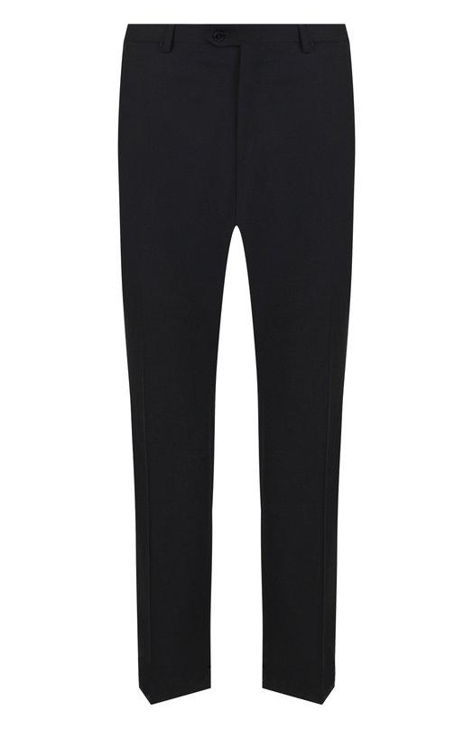 Купить Шерстяные брюки прямого кроя Brioni, RPL23Q/PZA00/M0ENA, Италия, Черный, Шерсть: 100%;