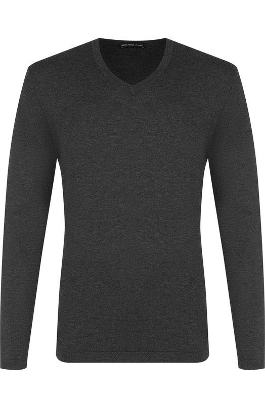 Купить Однотонный хлопковый пуловер James Perse, MFGC3189, Китай, Темно-серый, Хлопок: 100%;