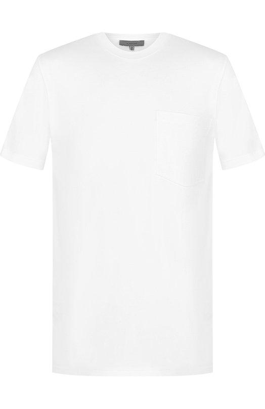 Купить Хлопковая футболка с круглым вырезом Lanvin, RMJE0015A18, Италия, Белый, Хлопок: 100%;