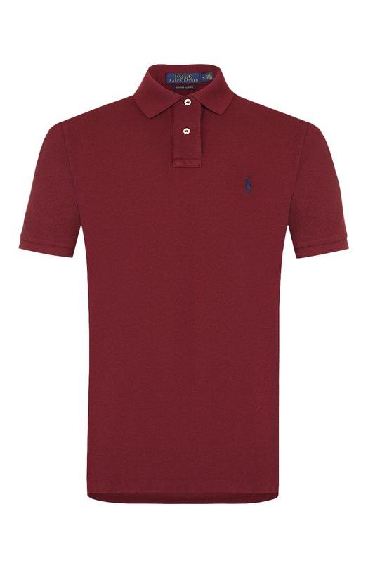 Купить Хлопковое поло с короткими рукавами Polo Ralph Lauren, 710680784, Вьетнам, Бордовый, Хлопок: 100%;