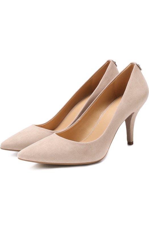 Купить Замшевые туфли Flex на шпильке MICHAEL Michael Kors, 40F1MFMP2S, Вьетнам, Бежевый, Стелька-кожа: 100%; Подошва-резина: 100%; Замша натуральная: 100%; Подкладка-кожа: 100%; Кожа: 100%;