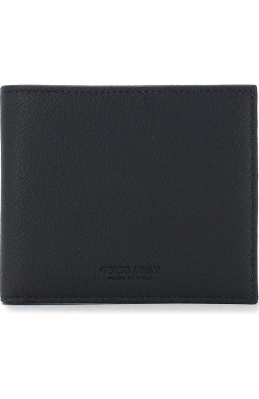 Купить Кожаное портмоне с отделениями для кредитных карт Giorgio Armani, Y2R214/YEM4J, Италия, Темно-синий, Кожа натуральная: 100%;
