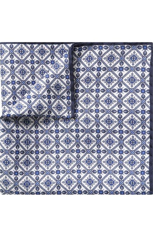 Купить Шелковый платок с узором Eton, A000 30676, Италия, Темно-синий, Шелк: 100%;