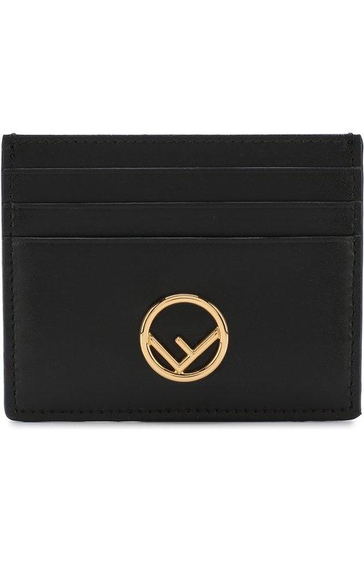 Купить Кожаный футляр для кредитных карт Fendi, 8M0269 A0KK, Италия, Черный, Кожа натуральная: 100%;
