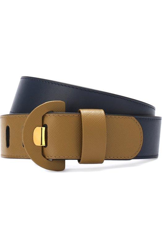 Купить Кожаный ремень с контрастными деталями Marni, CNM00000Q0/LV589, Италия, Хаки, Кожа натуральная: 100%;