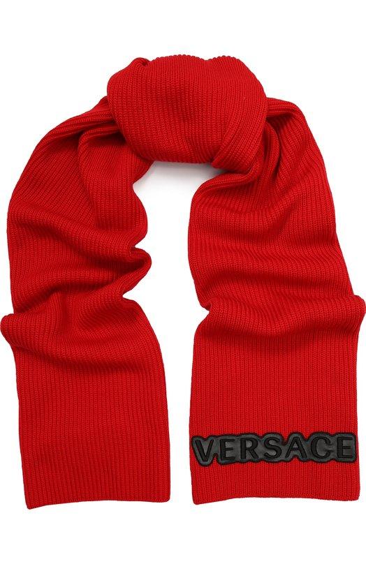 Шерстяной шарф Versace, ISC3003/IK0155, Италия, Красный, Шерсть: 100%;  - купить