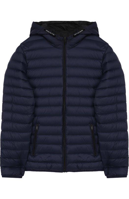 Стеганая куртка с капюшоном Emporio Armani