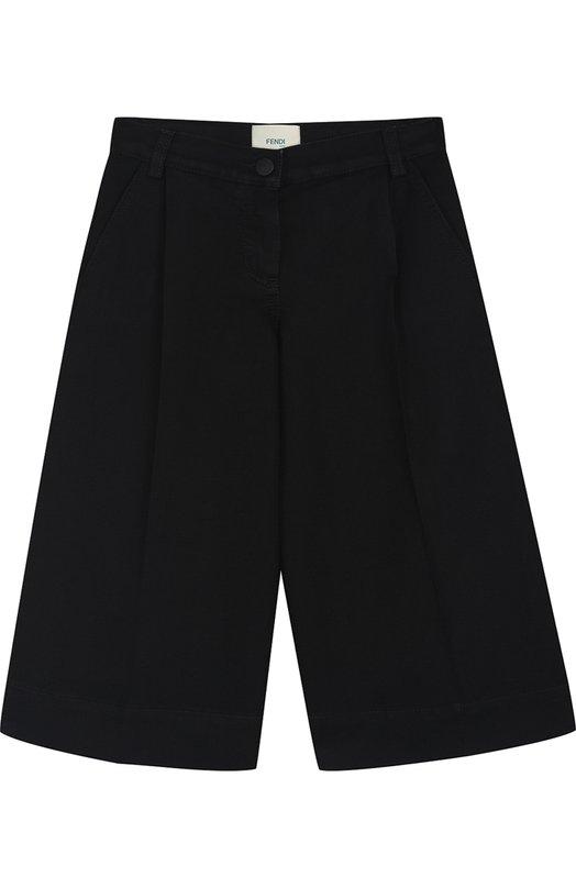 Купить Укороченные джинсы свободного кроя Fendi, JFF106/A3TQ/6A-8A, Италия, Черный, Хлопок: 76%; Эластан: 24%;