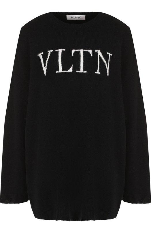 Пуловер свободного кроя из смеси шерсти и кашемира Valentino