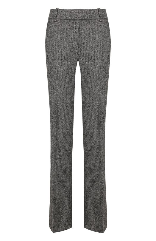 Купить Расклешенные брюки из смеси шерсти и шелка со стрелками Tom Ford, PAW158-FAX430, Италия, Черно-белый, Полиамид: 6%; Шерсть: 50%; Шелк: 43%; Эластан: 1%;