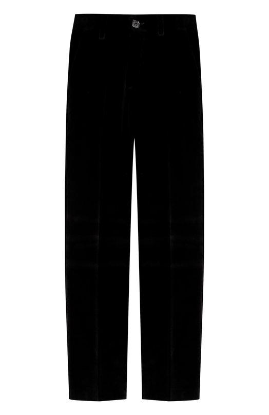Купить N107/7712/4-6, Хлопковые брюки прямого кроя Dal Lago, Италия, Черный, Хлопок: 100%;, Мужской, Брюки