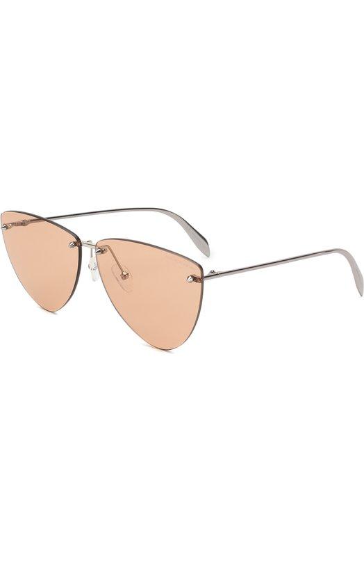 Купить Солнцезащитные очки Alexander McQueen, AM0103 003, Италия, Светло-коричневый