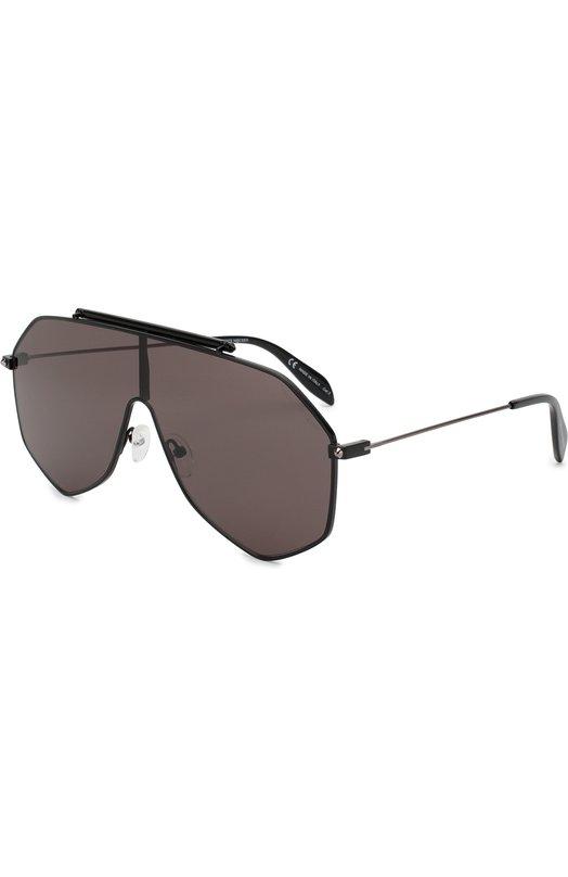 Купить Солнцезащитные очки Alexander McQueen, AM0138 001, Италия, Черный