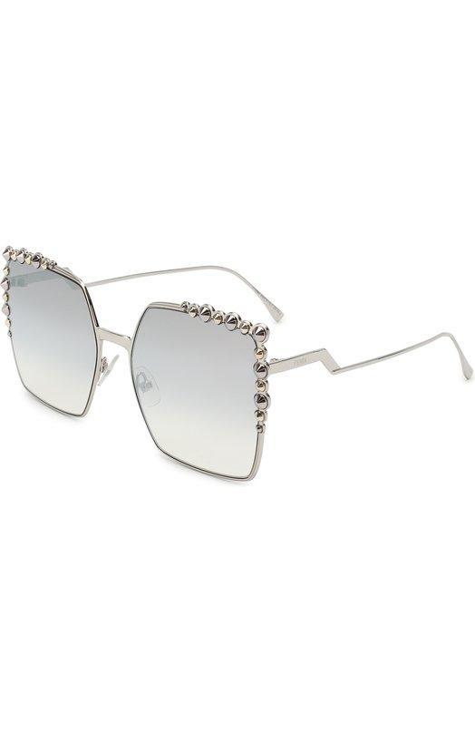Купить Солнцезащитные очки Fendi, 0259 010, Италия, Серебряный
