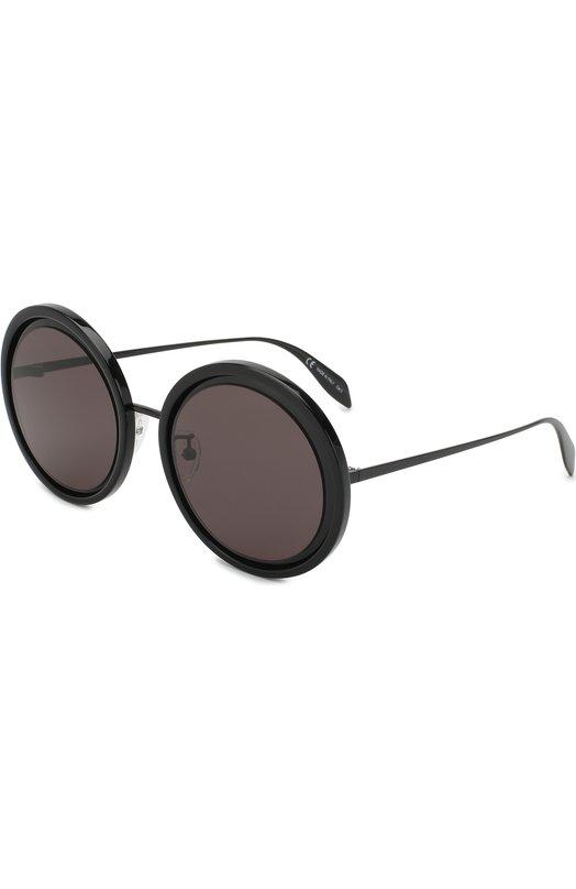 Купить Солнцезащитные очки Alexander McQueen, AM0150 001, Италия, Черный