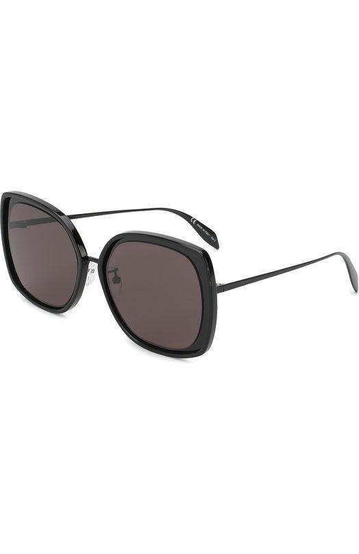 Купить Солнцезащитные очки Alexander McQueen, AM0151 001, Италия, Черный