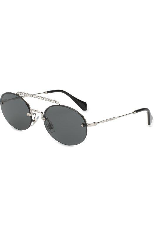 Купить Солнцезащитные очки Miu Miu, 60TS-1BC1A1, Италия, Черный