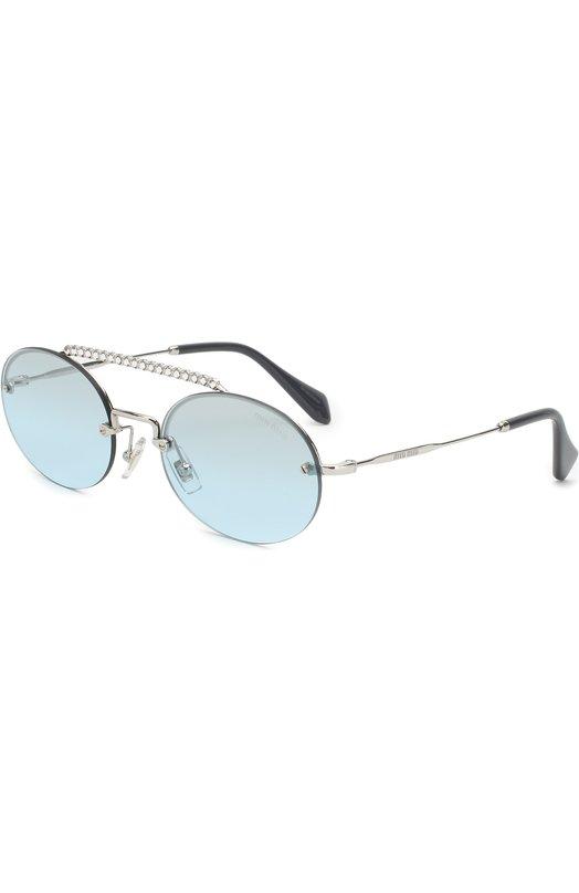 Купить Солнцезащитные очки Miu Miu, 60TS-1BC096, Италия, Голубой