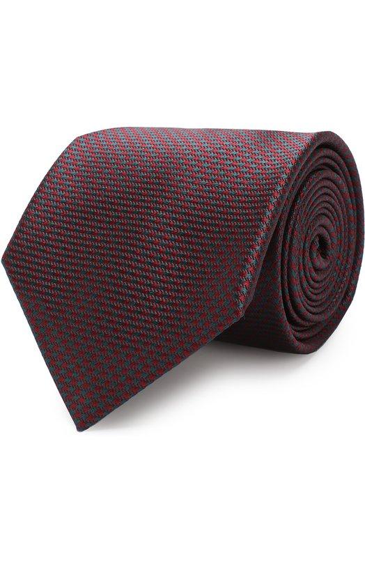 Купить Шелковый галстук с узором Brioni, 062I00/0740J, Италия, Бордовый, Шелк: 100%;