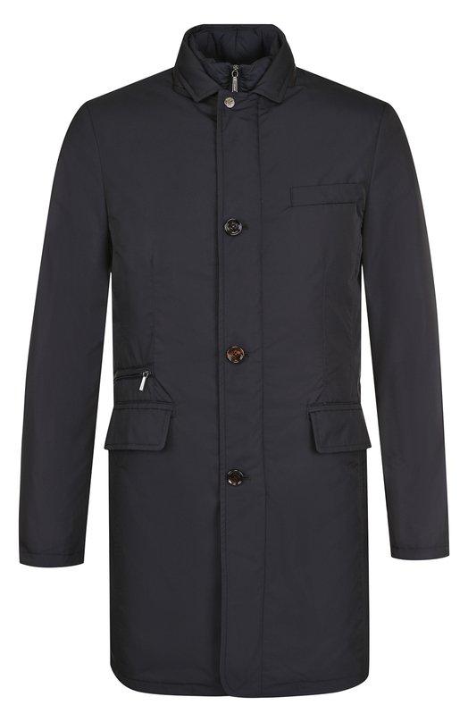 Пуховое пальто на молнии с подстежкой Moorer