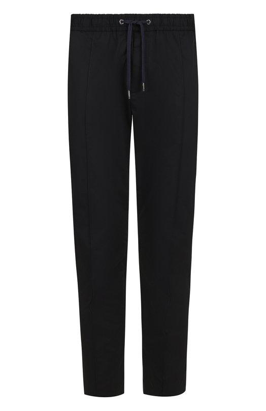 Купить Хлопковые брюки Dolce & Gabbana, GYACET/FUFIS, Италия, Темно-синий, Хлопок: 97%; Эластан: 3%;
