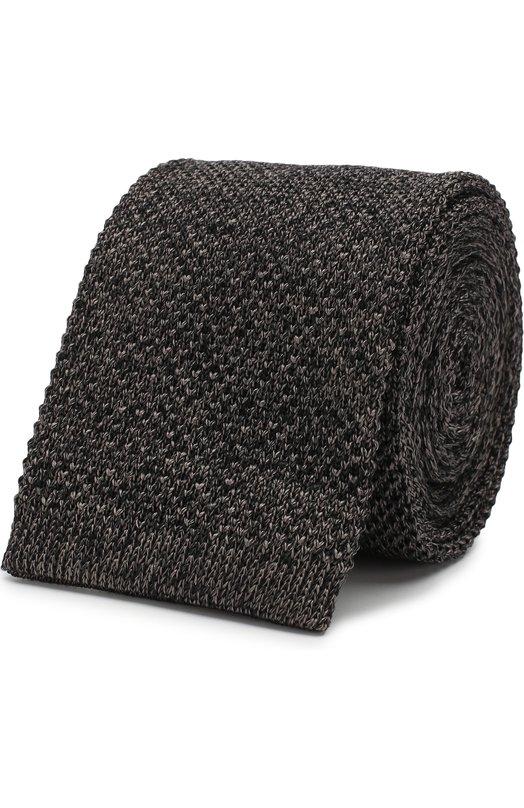 Купить Шелковый вязаный галстук Emporio Armani, 340027/8A353, Италия, Серый, Шелк: 100%;