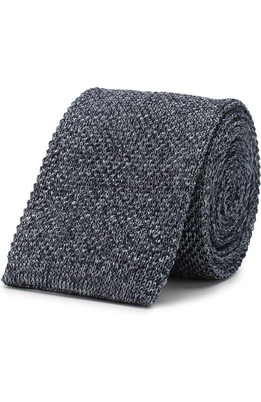 Купить Шелковый вязаный галстук Emporio Armani, 340027/8A353, Италия, Синий, Шелк: 100%;