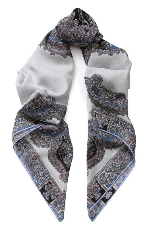 Платок из смеси шерсти и шелка с принтом Michele Binda