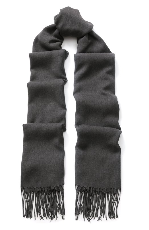 Купить Однотонный шарф с бахромой Emporio Armani, 625214/8A318, Италия, Синий, Полиэстер: 65%; Вискоза: 35%;