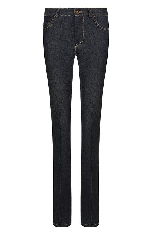 Купить Расклешенные джинсы со стрелками и контрастной прострочкой Victoria, Victoria Beckham, VB227 PAW18 478, Португалия, Синий, Хлопок: 98%; Эластан: 2%;